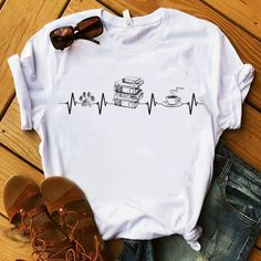 Fishing man heartbeat shirt, ladies shirt, hoodie and sweater Casual Outfits, Cute Outfits, Fashion Outfits, Cool Shirts, Tee Shirts, Geile T-shirts, T Shirt Painting, Harry Potter Outfits, Short