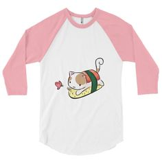 Sushi Cat 3/4 sleeve baseball shirt