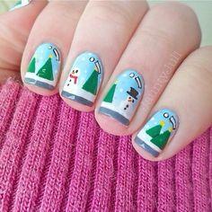 christmas by jauntyjuli #nail #nails #nailart
