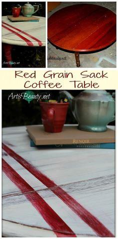ART IS BEAUTY: Grain sack inspired Coffee Table Makeover!