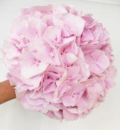 Bouquet Mariée Hortensias roses