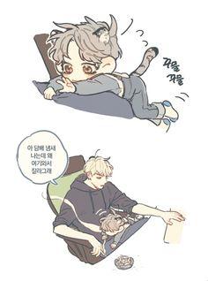 Yoonmin Fanart, Vkook Fanart, Bts Chibi, Banda Kpop, Bts Memes, K Pop, Neko, Taehyung Fanart, Bts Drawings