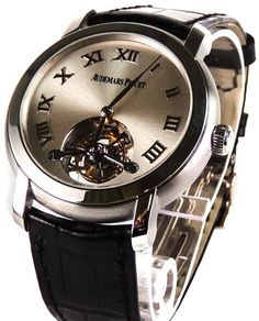 This men's Audemars Piguet Jules Audemars Tourbillon, model number 26561BC.OO.D002CR.01, is an unworn timepiece from our collection of tourbillon watches for sale!