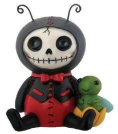 Dots Ladybug Furry Bones Statue Figurine