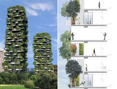Bosco Verticale, Milan ... Wish to see more buildings like this on the Philippines.
