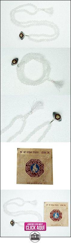 Collar blanco piedra lunar malabeads Shiva tercer ojo colgante oración Bead Mala con libre Santaan Gopal Yantra  ✿ Joyas para niñas - Regalos ✿ ▬► Ver oferta: https://comprar.io/goto/B01E6Q1DNQ