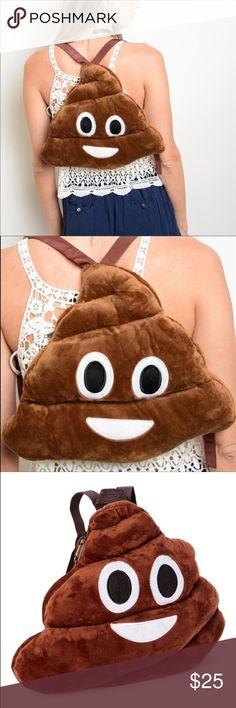 "1 DAY SALE❤Brown Emoji Backpack. Brown Emoji Backpack. Size 12"" by 14"".  🚨NO TRADE 🚨  ❤️PRICE FIRM❤️ SoChic Bags Backpacks"