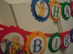 Caillou Happy Birthday Banner