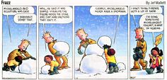 Frazz on Michelangelo and snowmen. I'm enjoying imagining what one of his snowmen might have looked like!