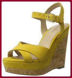 ALDO Damen Madyson Knöchelriemchen, Gelb (69 Mustard), Gr. 38 EU ( 5 UK) - Sandalen für frauen (*Partner-Link)