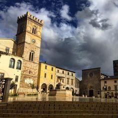Medieval Piazza del Popolo a Cittaducale in Lazio