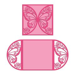 Silhouette Design Store - View Design #168403: butterfly sleeve and card