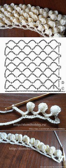 Knitulator sucht #Häkelmuster: #Büschelmaschen #Schneeflocken #Häkelbögen