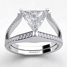 Danhov 18k Gold CZ and 0.5ct TDW Diamond Engagement Ring — Wedding Fashion