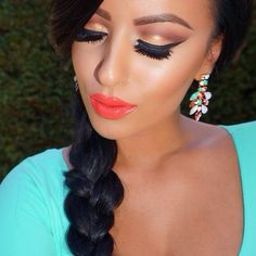 """#ShareIG #motd #mayamiapalette on the eyes @flutterlashesinc """"Paige"""" code amrezy for 15% off and @lagirlcosmetics Glazed """"Tango"""" gloss on the lips Earrings from @queenpee code amrezy foroff ✨"""