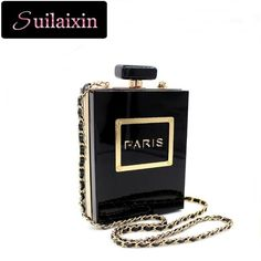 62.15$  Watch now - http://vialm.justgood.pw/vig/item.php?t=6op7oe19565 - Women Small Bag Perfume Bottle Day Clutch Acrylic Clutches Fashion Chains Evenin