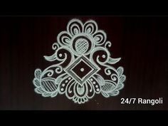 Margazhi swan kolam | 24/7 Rangoli | dhanurmatham muggulu #howtodraw #rangoli #kolam #muggulu #art - YouTube Rangoli Designs Simple Diwali, Rangoli Designs Latest, Rangoli Designs Flower, Rangoli Border Designs, Small Rangoli Design, Rangoli Designs With Dots, Easy Rangoli, Mandala Design, Alpona Design