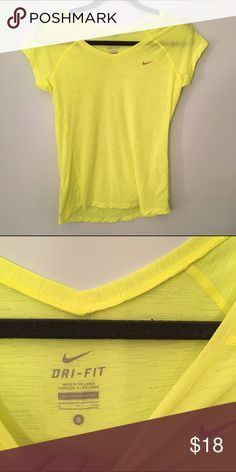 Neon Green Nike Dri-Fit Workout Top Very airy and vibrant! Perfect condition Nike Tops