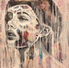 Mixed media art by Melissa Sue Serrano