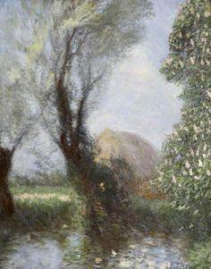 ☼ Painterly Landscape Escape ☼ landscape painting by George Clausen | Spring Landscape