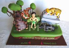 doces projectos MU: Bolo_O Livro da Selva_Alice & Francisco_Agosto 201...