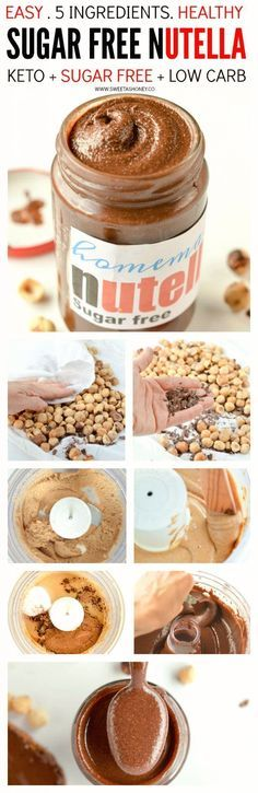 Homemade sugar free nutella