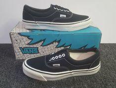 9d8484b0fd66cb Details about Vintage Vans ERA shoes BLACK CHAR made in USA Mens 11.5 BMX  SK8 HI Old Skool