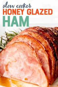 Use this amazing ham glaze recipe to make a juicy, flavorful ham anytime! This Slow Cooker Ham is so simple to make, you can even serve it on a weeknight. Slow Cooker Ham Recipes, Pork Recipes, Crockpot Recipes, Cooking Recipes, Cooking Pork, Ham Dishes, Honey Glazed Ham, Weightwatchers Recipes, Recipes