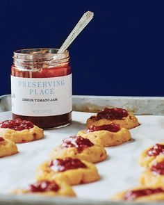 Southern Spotlight: Preserving Tradition...pimento-cheese thumbprint cookies with jam...Southern Lady magazine