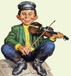 Alfred E Neuman fiddling on the roof