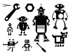 FREE SVG KLDezign Robots tools and aliens SVG