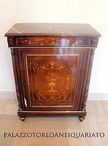 Credenza francese in palissandro con intarsi #Antiquariato #antique # ...