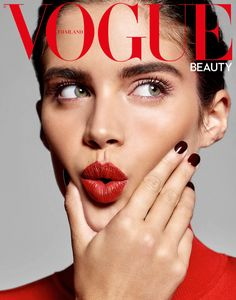 45bbd1f3458b Sara Sampaio Wears Glam Beauty Looks for Vogue Thailand