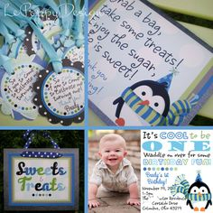 Boy Penguin Party Ideas - This little penguin is the sweetest!  Perfect for a winter themed party, boy or girl!