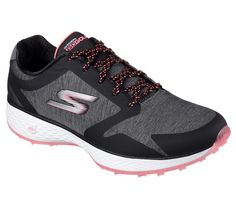Skechers Women's Go Golf Birdie Famed Golf Shoes - Black/Hot Pink Most Comfortable Shoes, Womens Golf Shoes, Ladies Golf, Black Shoes, Sporty, Boots, Sneakers, Hot Pink, Pink
