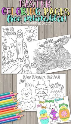 It's time for another set of coloring pages from inkhappi! I'm sharing three Easter Coloring Pages as free printables today. Free Easter Coloring Pages, Easter Colouring, Printable Coloring Pages, Coloring Book, Easter Activities, Christmas Activities, Easter Printables, Free Printables, Easter Crafts