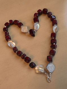 with all my heart -beaded necklace ~little things by Moni~
