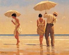 Jack Vettriano's Mad Dogs (Still don't know the story behind the title. Don't care. Having it framed in our living room.)