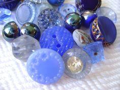 More vintage blue buttons