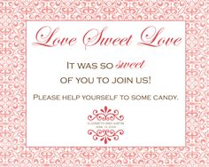 Candy Buffet Signs | ... Design BLOG: Custom Candy Buffet Sign & Reserved Sign for Elizabeth