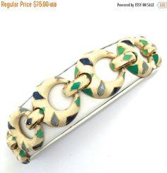 On Sale Alice Caviness Enameled Link Bracelet by Vintageimagine