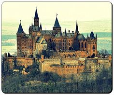 """LOMO Hohenzollern Castle Customizable Gaming Mouse Pad Mat 240x200x3mm(9.45""""x7.87""""x0.12"""") by iCustom&Shop Mouse Pads http://www.amazon.com/dp/B017057VK4/ref=cm_sw_r_pi_dp_PzDkwb1NXXB5Z"""