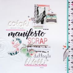 scrapbook layout | manifesto creativo di kushi www.kkushi.com  #scrapbooking #scrapbooklayout #kkushi #layout12x12 #tombow #tombowdualbrush #manifestoscrap
