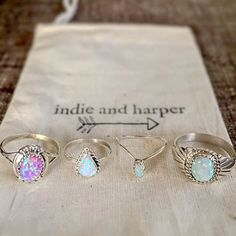 NAVAJO OPALS || Available in our 'Navajo' and 'Mermaid' Collections || www.indieandharper.com