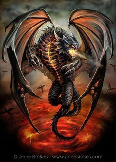 One of Anne Stokes wonderful dragons.