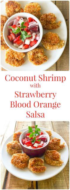 Coconut Shrimp with Strawberry Blood Orange Salsa