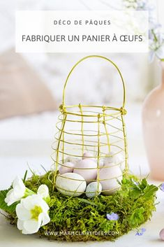La chasse aux oeufs sera placée sous le signe du DIY cette année pour Pâques ! Decoration, Wicker Baskets, Home Decor, Egg Hunt, Easter Table, Decor, Decoration Home, Room Decor, Dekoration