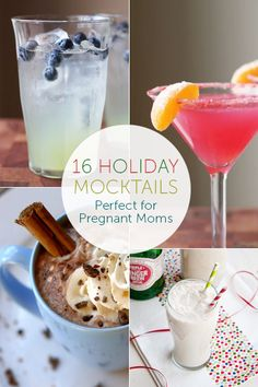 16 Holiday Mocktails Perfect for Pregnant Moms (nope i am not preggy but love mocktails!)