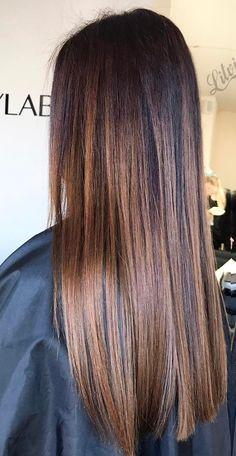 Balayage Hair Caramel, Brown Hair Balayage, Hair Color Balayage, Ombre Hair, Pretty Hair Color, Hair Color For Black Hair, Brown Hair With Blonde Highlights, Hair Highlights, Brunette Hair