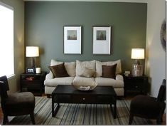 Picture wall ideas for living room living room accent wall color ideas accent wall ideas for . Cheap Home Decor, Living Room Accents, Living Room Green, Accent Walls In Living Room, Bedroom Wall, Green Accent Walls, Home Decor, House Interior, Apartment Chairs